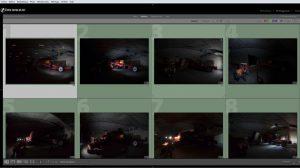 Les différents éclairages sur chaque photo